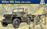 WILLYS MB JEEP W/TRAILER. gab. 9.25 €